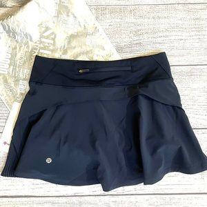 NWT LULULEMON Play Off The Pleats NAVY Skirt 6 REG